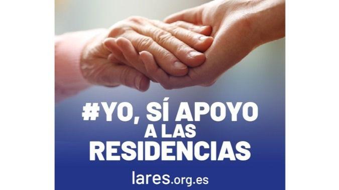 Campaña de apoyo de Lares a las residencias de personas mayores.