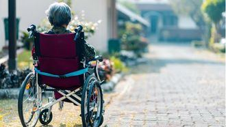 Persona mayor en situación de dependencia y discapacidad.