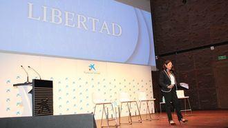 La presidenta de CEAPs, Cinta Pascual, durante la I Cumbre sobre el Babyboom.