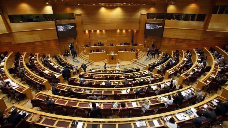 Senado de España durante una ponencia sobre personas mayores.