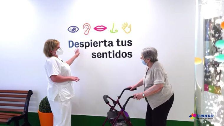Amavir trabaja la actividad cognitiva de los residentes a través de las salas multisensoriales