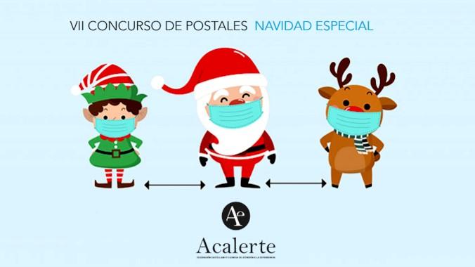 Las residencias acercan la Navidad a las personas que viven solas con su concurso de postales en época de la Covid