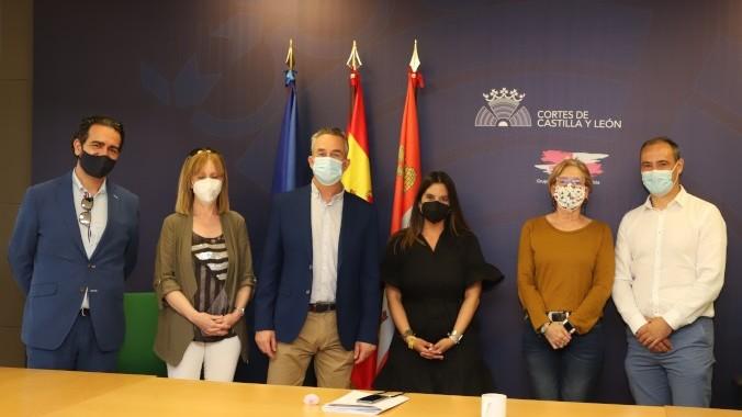 Encuentro de Acalerte y Lares con los responsables del PSOE en Castilla y León.