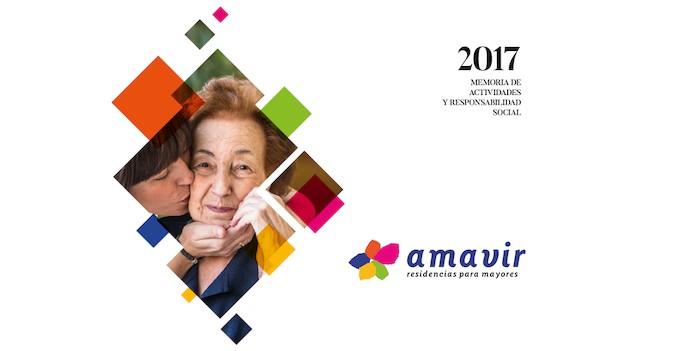 Amavir publica su primera Memoria de Actividades y Responsabilidad Social tras la unión de Adavir y Amma