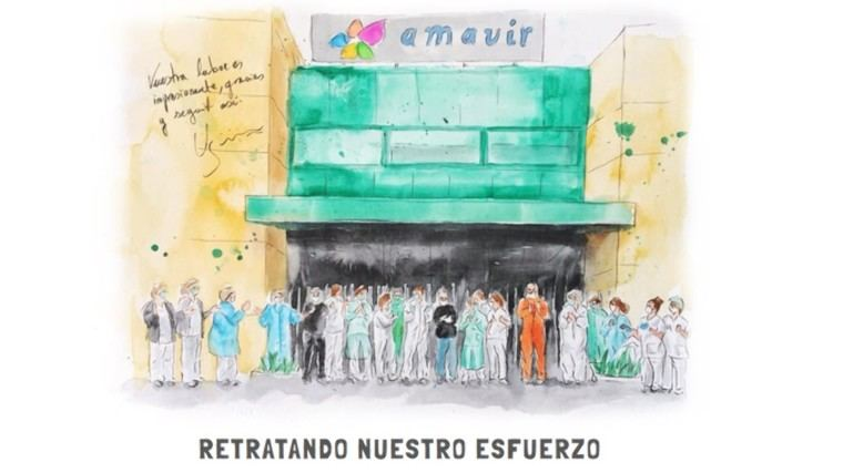 """Amavir expone on line """"Retratos para la cuarentena"""", obras que muestran la realidad de la pandemia"""