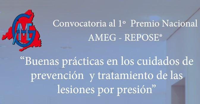 """I Premio AMEG-Cins Repose a las """"Buenas prácticas en los cuidados de prevención/tratamiento de lesiones por presión"""""""