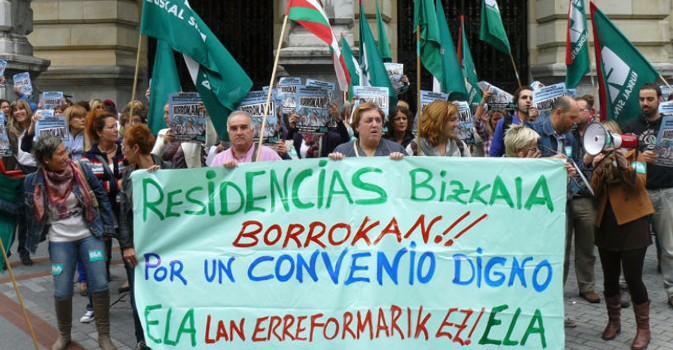 Tras 150 días de huelga, se enquista el conflicto laboral en las residencias de Vizcaya