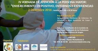 El Colegio de Médicos de Zaragoza organiza la IV Jornada de Atención a la Persona Mayor