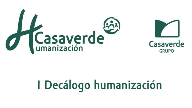 El Grupo Casaverde comparte el I Decálogo sobre la humanización de los cuidados