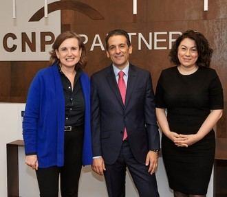 Mercedes Ayuso, Santiago Domínguez y Pilar Castillo.