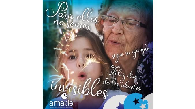 Amade celebra el día de los abuelos pidiendo visibilidad para las personas mayores siguiendo el ejemplo de los nietos