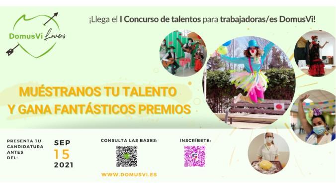 """DomusVi lanza el concurso de talentos """"DomusVi Lovers"""" para premiar la calidad humana y la faceta artística de sus trabajadores."""