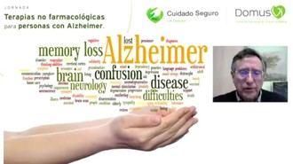 Jornada 'Terapias no farmacológicas para personas con Alzheimer' organizada por DomusVi y celebrada el 25 de marzo de 2021.