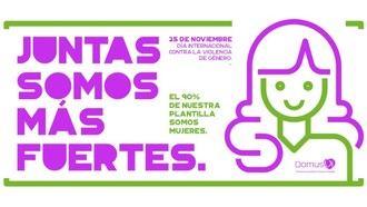 DomusVi se suma a la lucha contra la violencia de género y muestra su apoyo a las víctimas