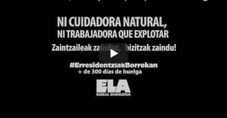 Las trabajadoras de Vizcaya difunden un video sobre su situación