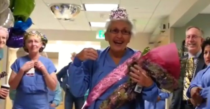 Visto en la red: Una enfermera cumple 90 años y sigue en activo