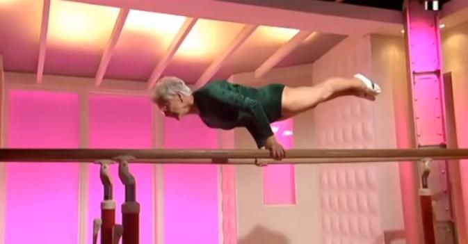 Visto en la Red: gimnasta de 90 años da lección de superación