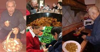 Las Hermanas Hospitalarias llevan a sus mayores a un entorno rural para que cocinen sus menús