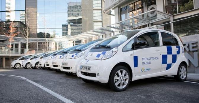Ilunion Sociosanitario incorpora 8 coches eléctricos al Servicio de Teleasistencia del Ayuntamiento de Madrid