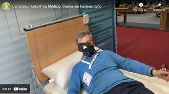 Josep de Martí prueba una cama de cota 0.