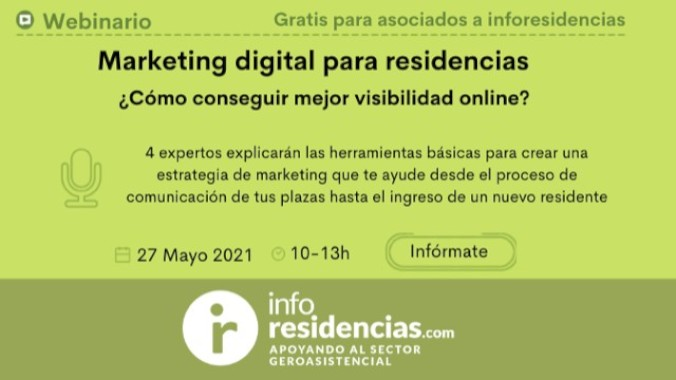 Aula Virtual: 27 de mayo, webinario sobre Marketing digital para residencias