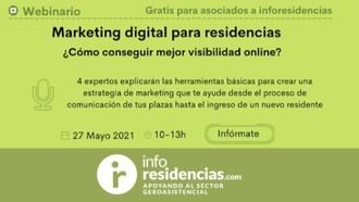 Webinario sobre marketing digital para residencias el próximo 27 de mayo.