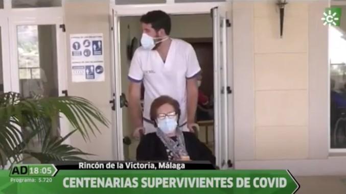 Dos residentes centenarias de ORPEA Málaga cuentan su historia de superación al programa Andalucía Directo