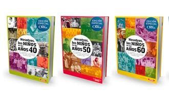 """Libros de Nosotros los niños de los años 40, 50 y 60, de la colección """"Un viaje por la memoria: un repaso a las dos primeras décadas de su vida"""", de la  editorial Bayard."""