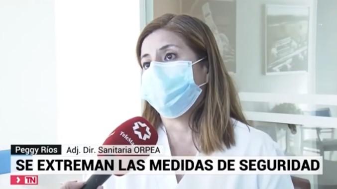 La seguridad y prevención de las residencias ORPEA ante la pandemia, en Telemadrid