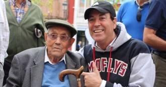 Visto en la red: Salustiano Toribio, 102 años fiel a su equipo, el Leganés