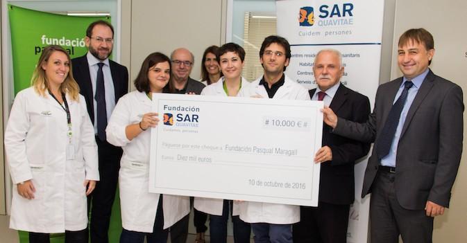 La Fundación SARquavitae dona 10.000 euros a la Fundación Pasqual Maragall