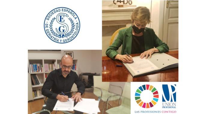 La SEGG y Unión Profesional se unen para trabajar por la protección integral y la imagen de los mayores