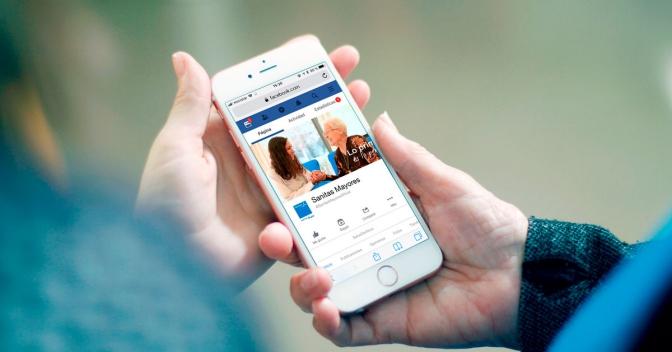 Nuevo Facebook de Sanitas Mayores con información más actualizada